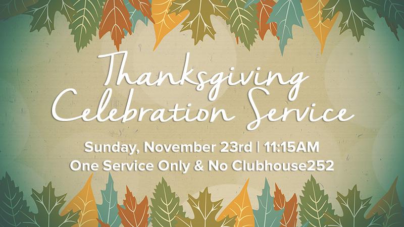 Thanksgiving celebration service clarksburg baptist church